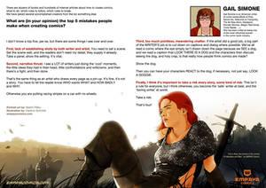 Top 5 mistakes when creating comics: Gail Simone