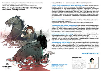 Top 5 mistakes when creating comics: Cris Peter by EMPAYAcomics