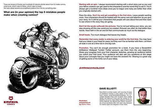 Top5 mistakes when creating comics: Dave Elliott