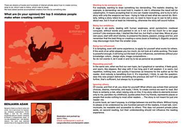 Top 5 mistakes when creating comics: Benjamin Adam by EMPAYAcomics