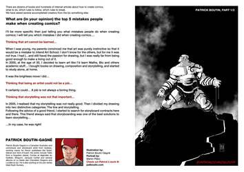 Top5 mistakes when creating comics: Pat Boutin 1 by EMPAYAcomics