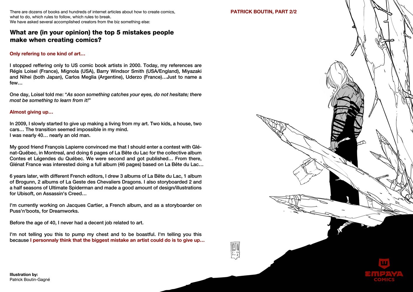 Top5 mistakes when creating comics: Pat Boutin 2