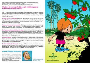 Top5 mistakes when creating comics: J.-F. Beaulieu by EMPAYAcomics