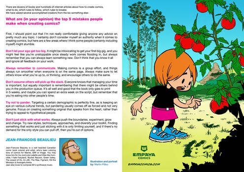 Top5 mistakes when creating comics: J.-F. Beaulieu