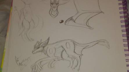 Bat Dragon Ref WIP by dragora7747