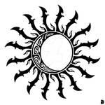Tribal Sun and Moon