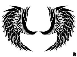 Angelic Tribal Wings 02 by GifHaas