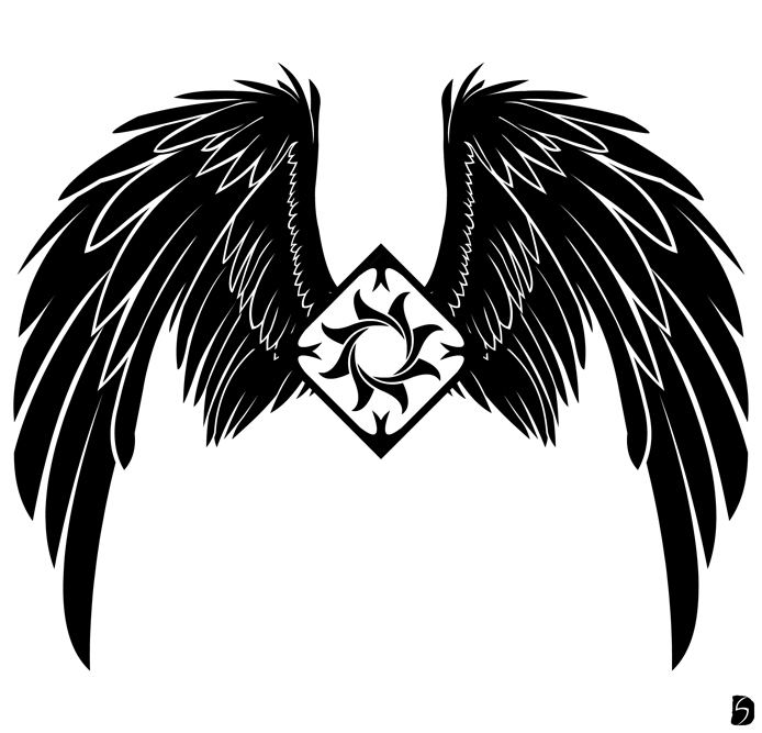 Black Wings By Gifhaas On Deviantart Rh Com Circle Silver Logo