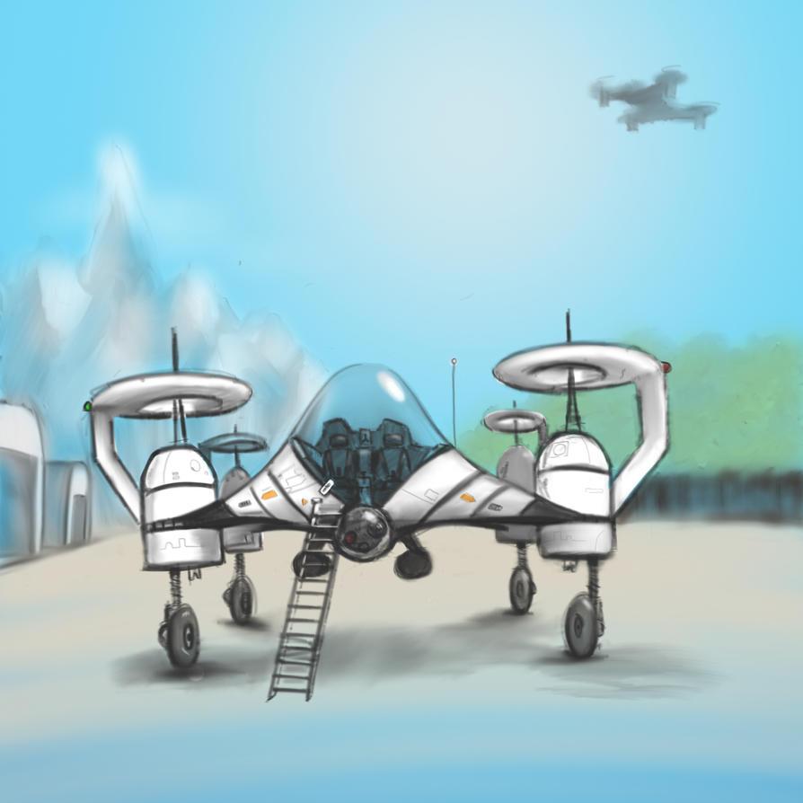 FUTURISTIC PLANE by gandarewa