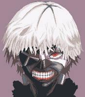 Kaneki Ken - Tokyo Ghoul by dokitsu