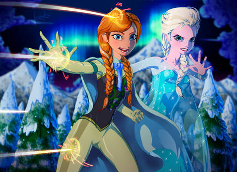 Kryptonian Anna and Elsa