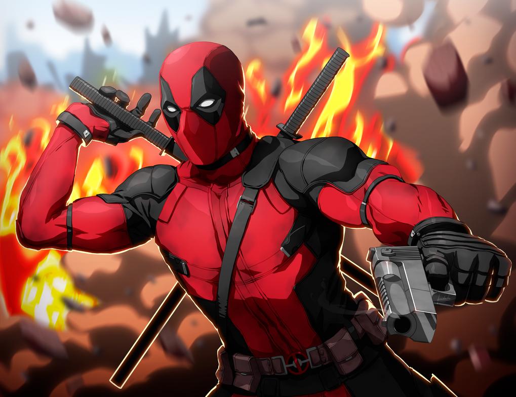 Deadpool Fan Art/ SpeedPaint by fradarlin