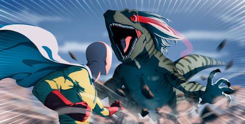 Saitama vs Devil Raptor