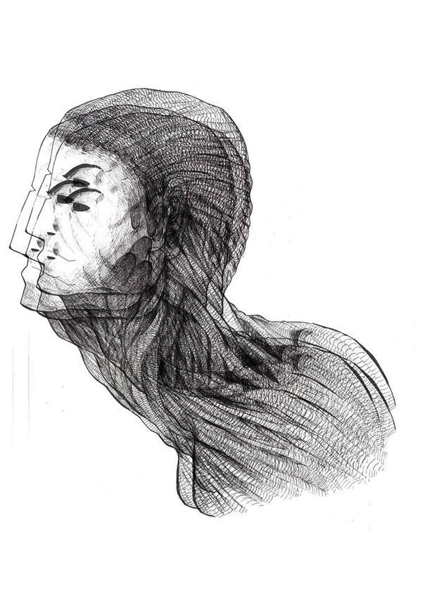 Pen and ink Inner virus drawing by Hobbsy1023