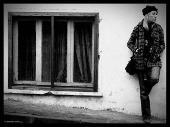 window and the woman