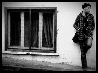 window and the woman by damdakisuvari