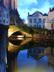 Evening View, Bruge, 2009 by Jakari