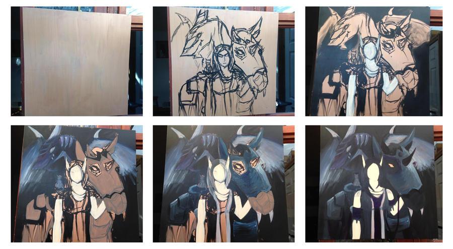 World of Warcraft Character Portrait Progress by Jakari