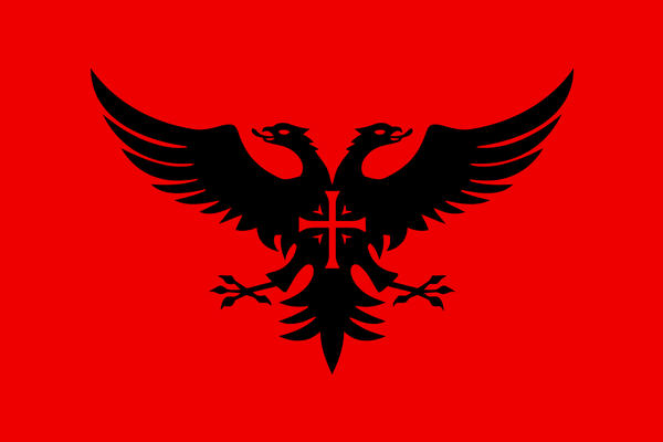 Flag Of Albania Drawing