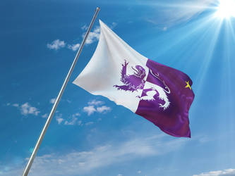Waving Flag. Republica Leonesa by resistance-pencil