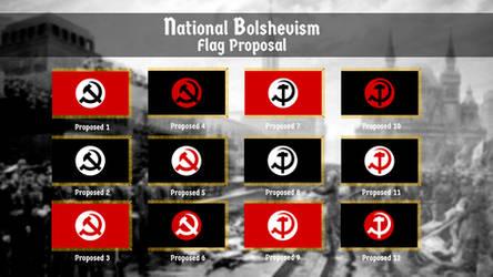 National Bolshevism. Flag Proposal by resistance-pencil