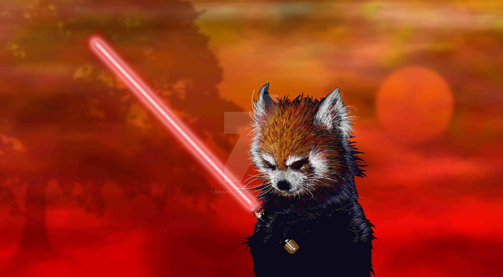 Red Panda Sith Lord by NoahBDesign