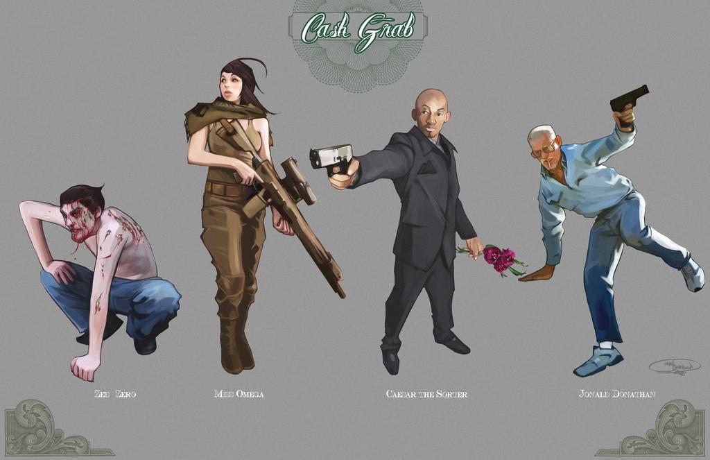 Cash Grab group shot 2 by NoahBDesign