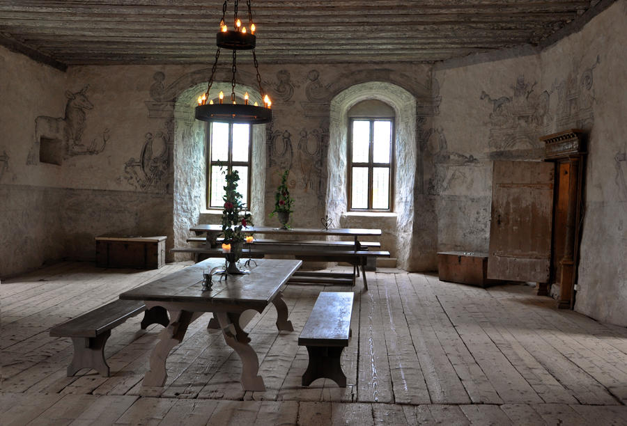 A room in a castle