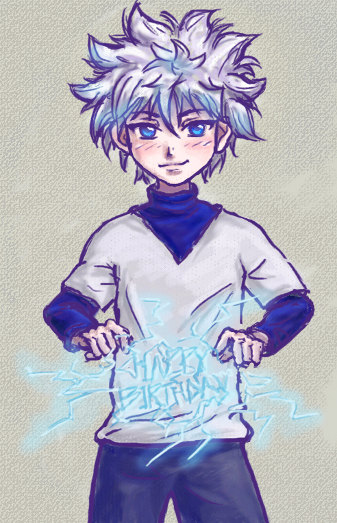 Killua - Happy Birthday by Birdynum-num