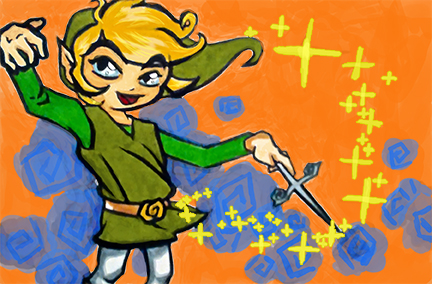 Toon Link, Digital Painting Experiment by LucyLooStudios