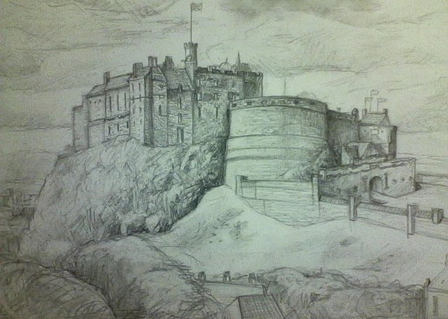 Edinburgh Castle by Kitkatkazoo