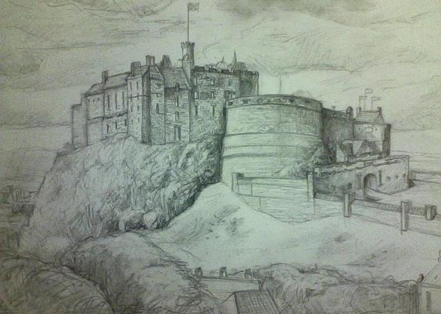 Edinburgh Castle by Kitkatkazoo