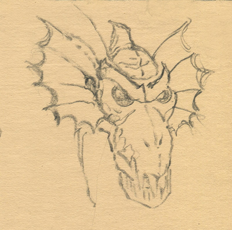 Draft Wyvern Face by plushbug