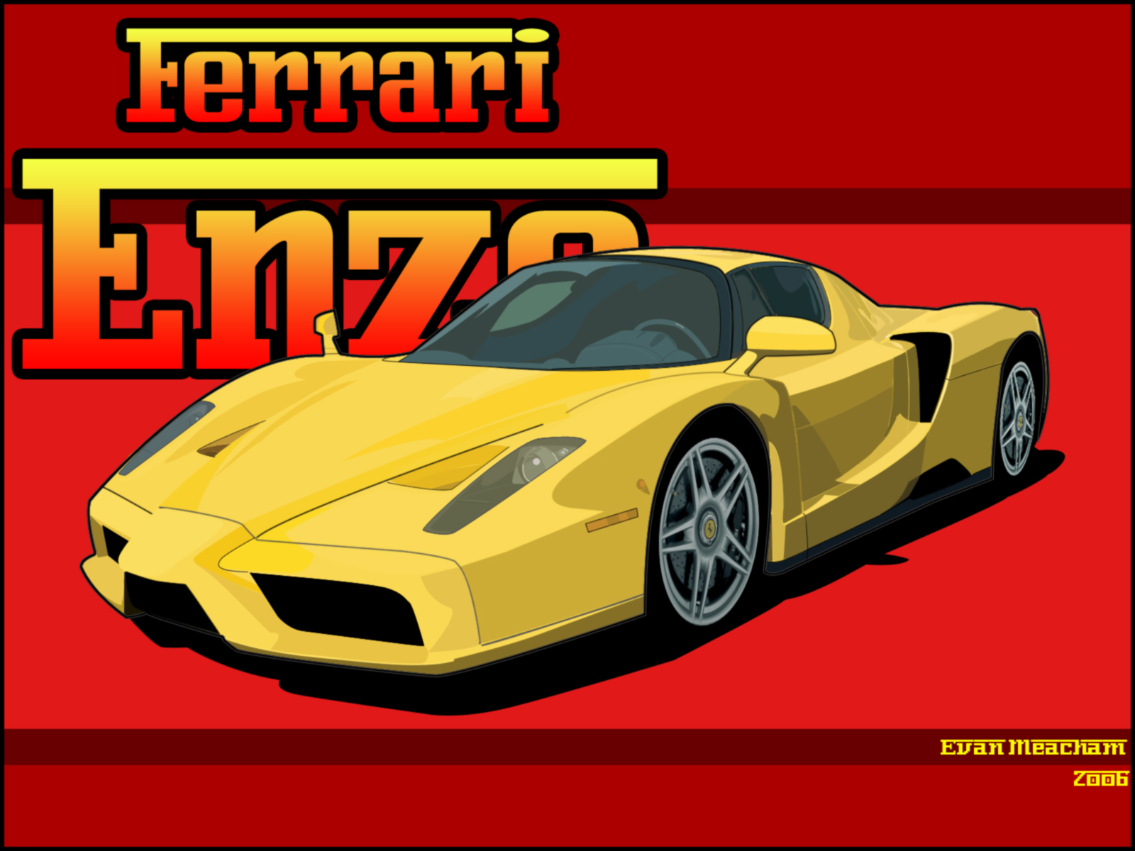 Ferrari Enzo Vector Final By Mister Twoster On Deviantart