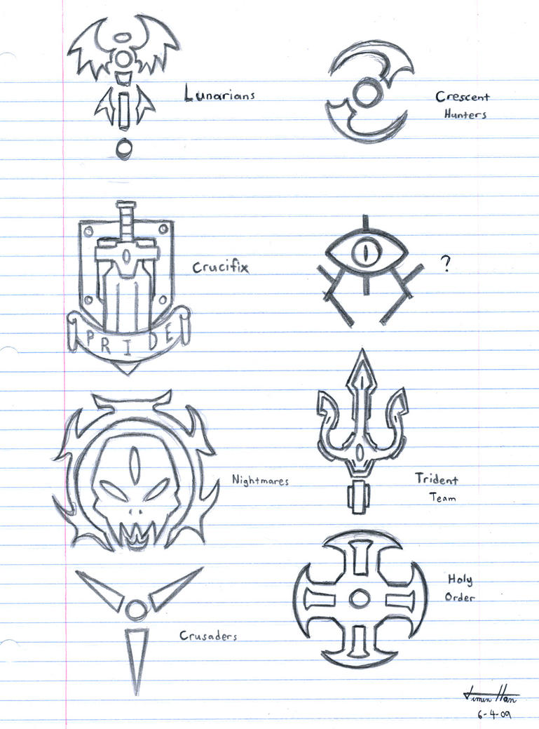 Elemental Magic Symbols Symbols