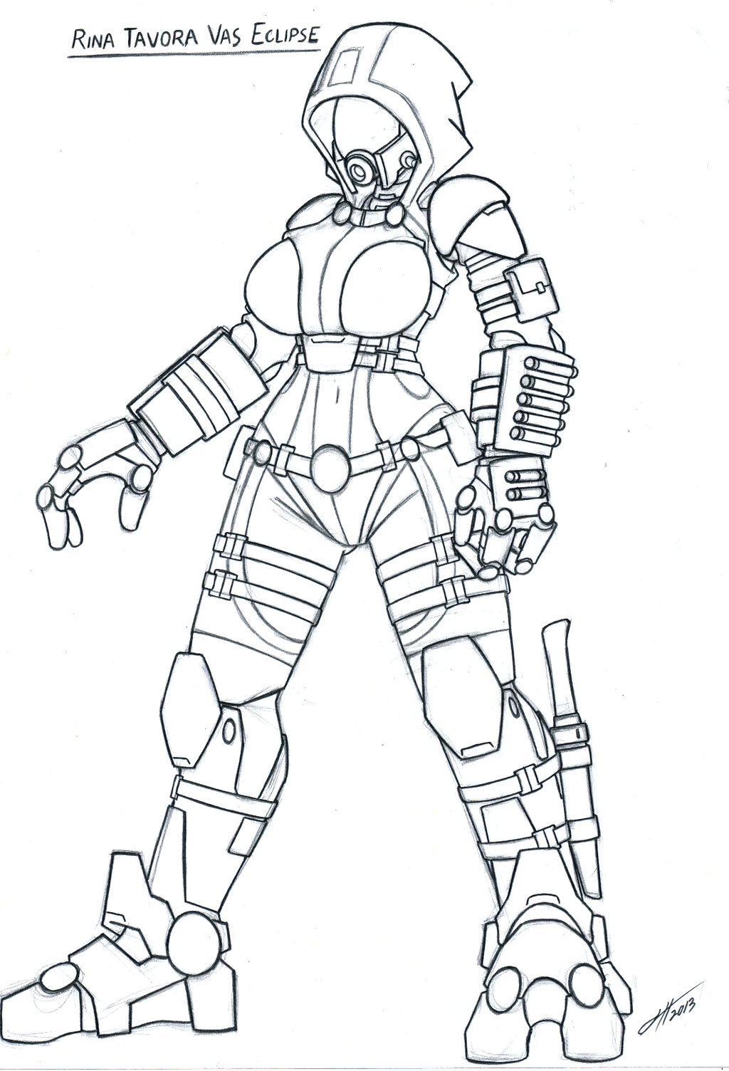 Line Art Effect : Mass effect quarian by gold paladin on deviantart