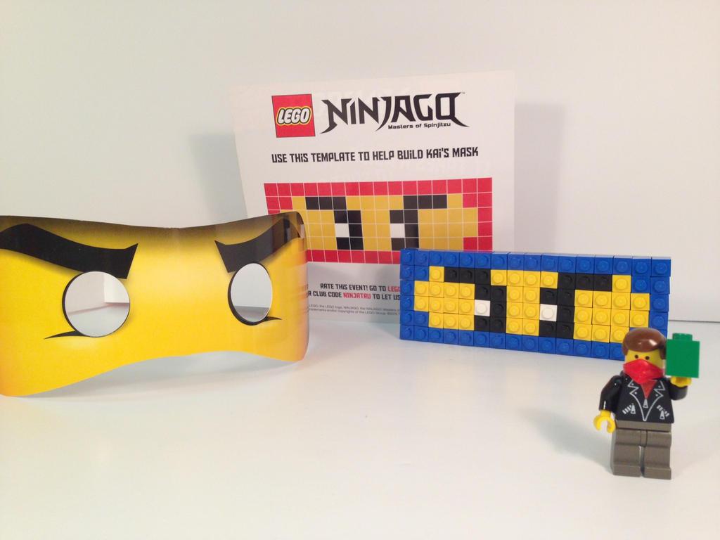 Lego Ninjago Toys R Us Building Event Jay Mask By Worldwideimage