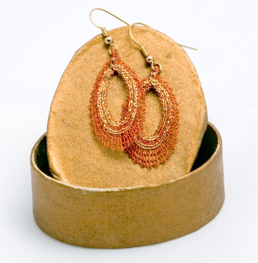 bobbin lace earrings by averil-hylton