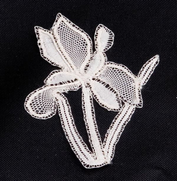 tiny bobbin lace silk orchid by averil-hylton