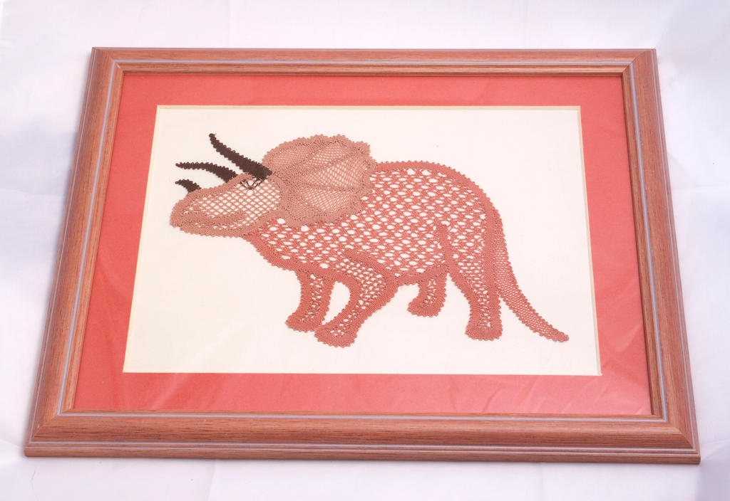 Bobbin Lace Triceratops by averil-hylton