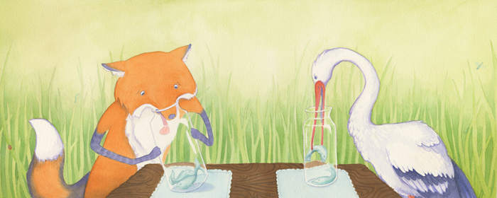 The Fox and the Stork by ConcreteRainx