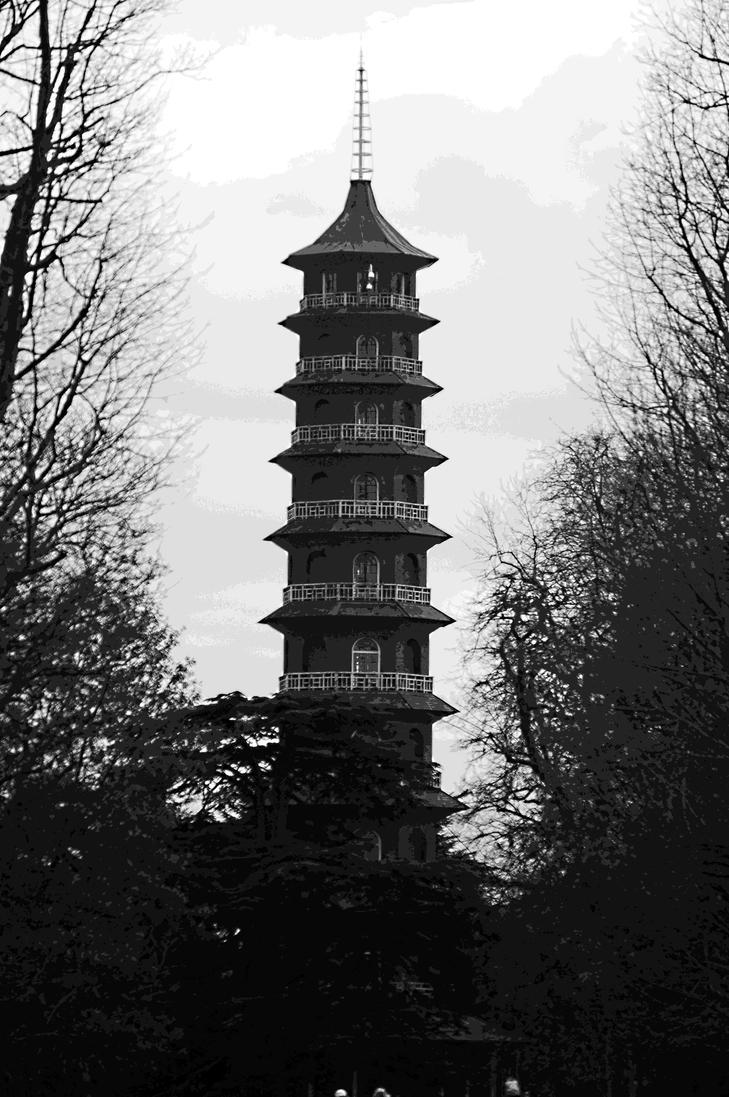 Kew Pagoda Through The Trees by ConveyedEcho
