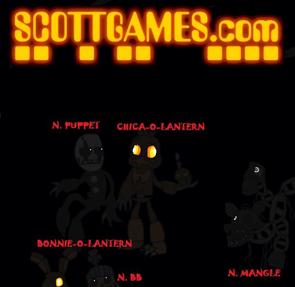 All of the halloween animatronics for fnaf 4 dlc by fnafplayer2015