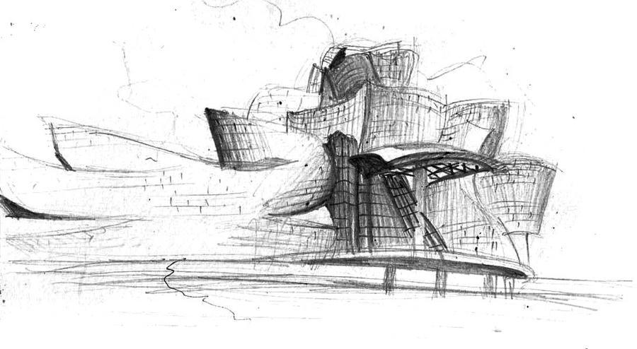 Guggenheim Bilbao Sketch By Mishisu On DeviantArt
