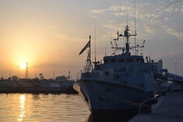 HMS BANGOR At Sunset II by AlexAAdersen