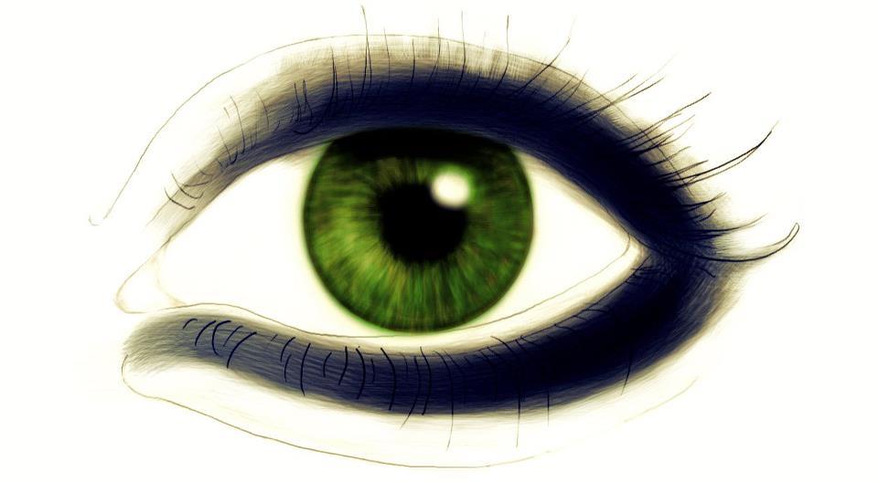 Green Eye Drawing