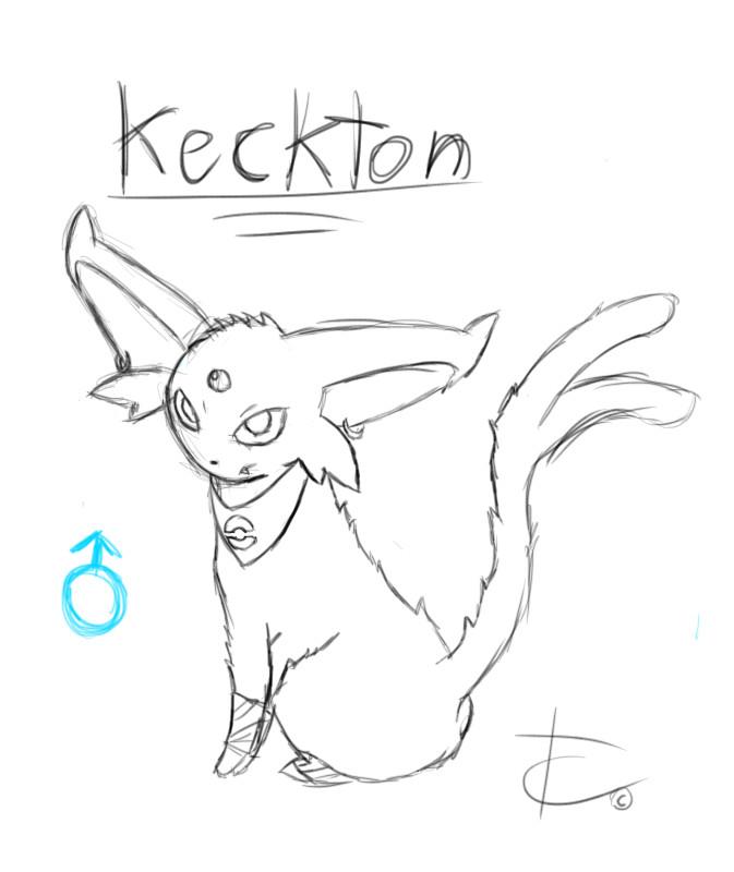 My Espeon Keckton sketch by ShinyUmbreonInk