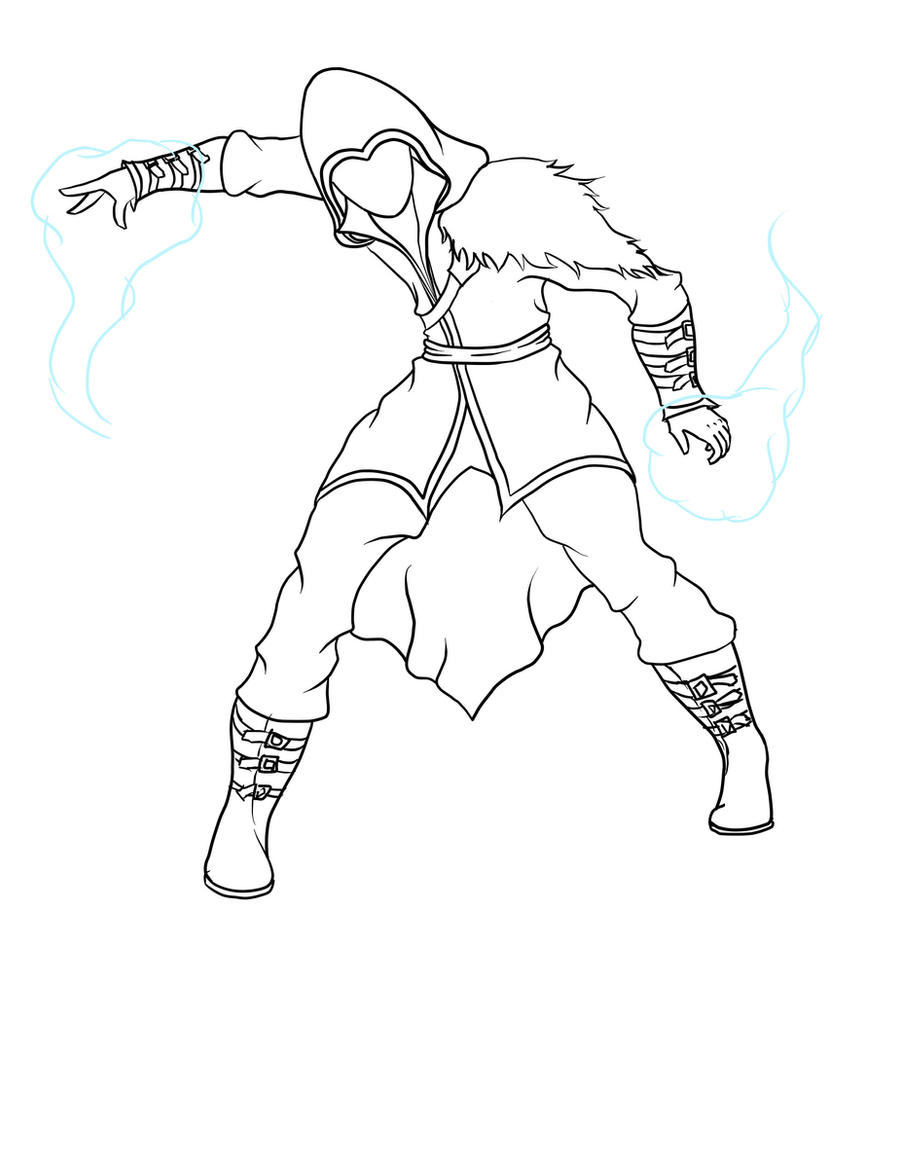 Line Drawing Water : My water bender line art by shinyumbreonink on deviantart