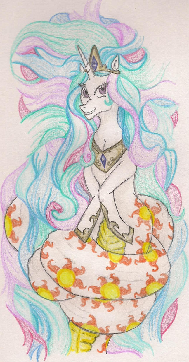 Long Hair Naga Celestia by TheGloriesBigJ