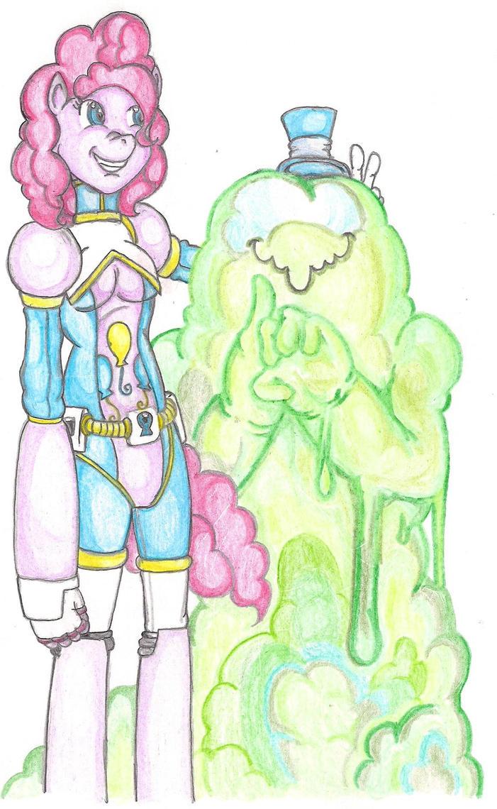 Smooze Devil and Pinkie pie by TheGloriesBigJ